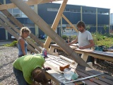 2de bouwdag Buitenkeuken